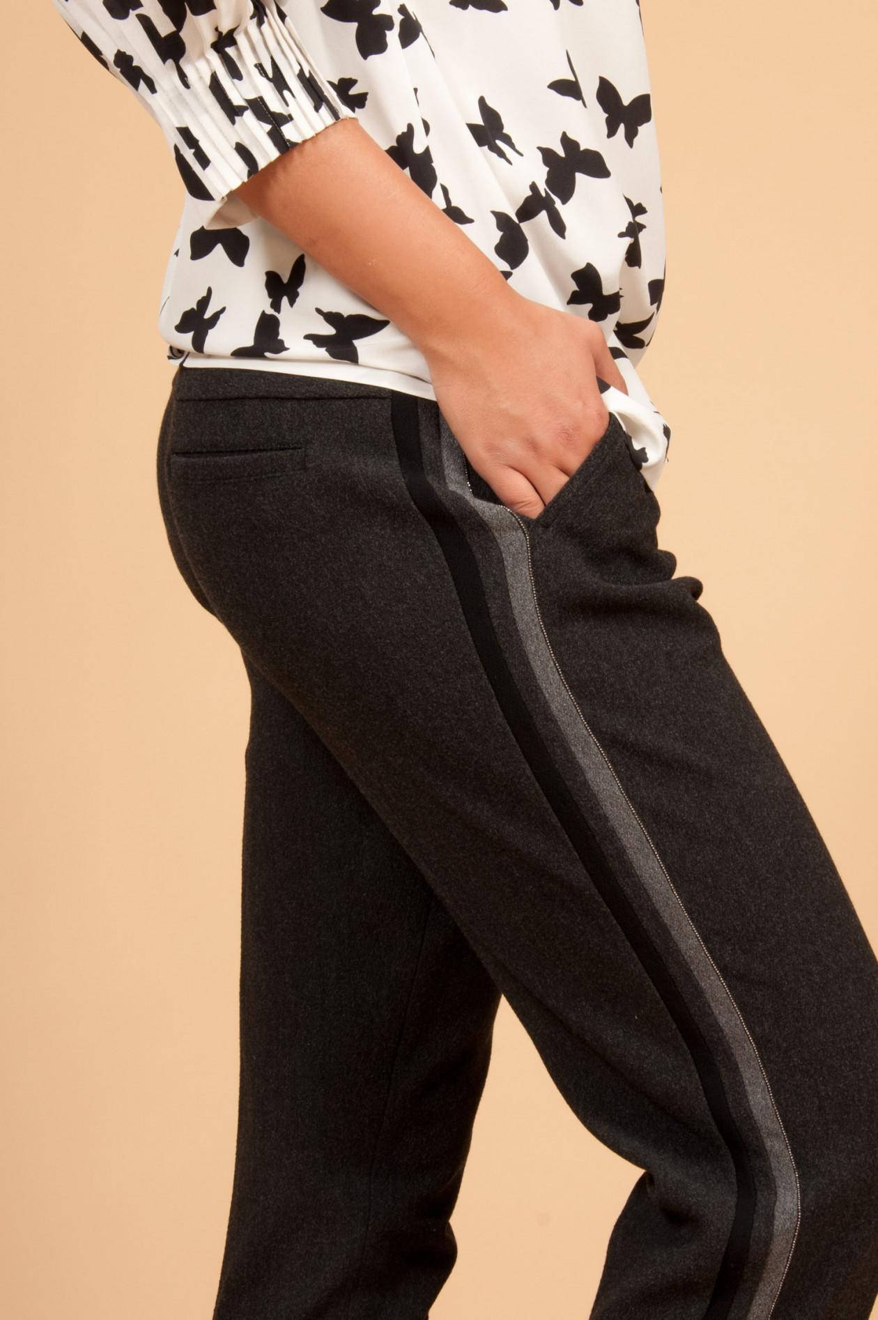 neue Sachen Online-Verkauf schnelle Farbe Hose mit Gummibund in Antra