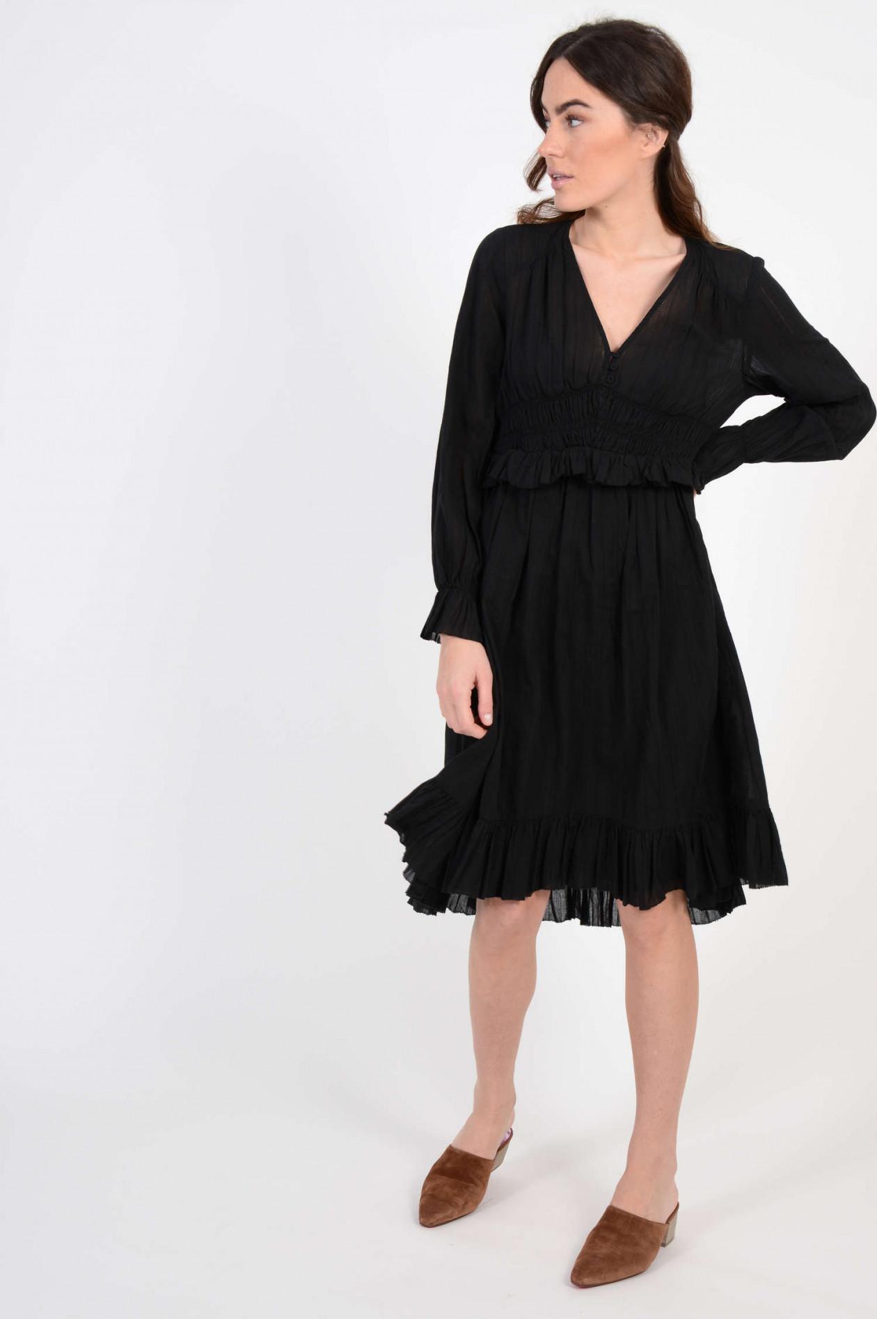 feminines kleid in schwarz