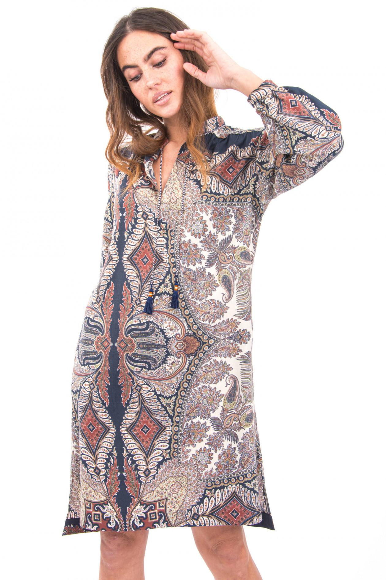 Boho Kleid mit Paisleymuster in Multicolor