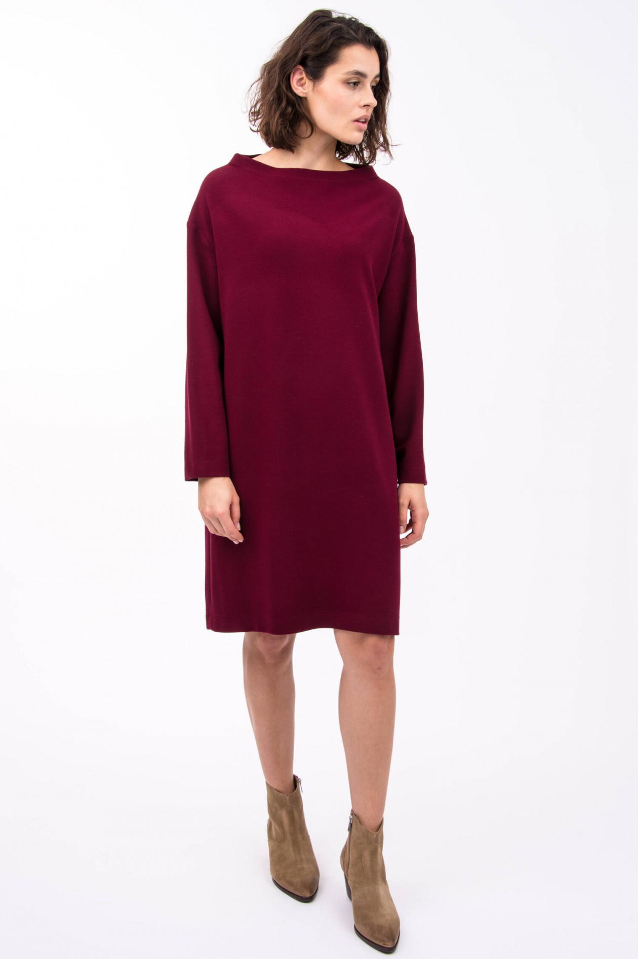 Harris Wharf London Kleid Mit U Boot Ausschnitt In Weinrot Gruener At