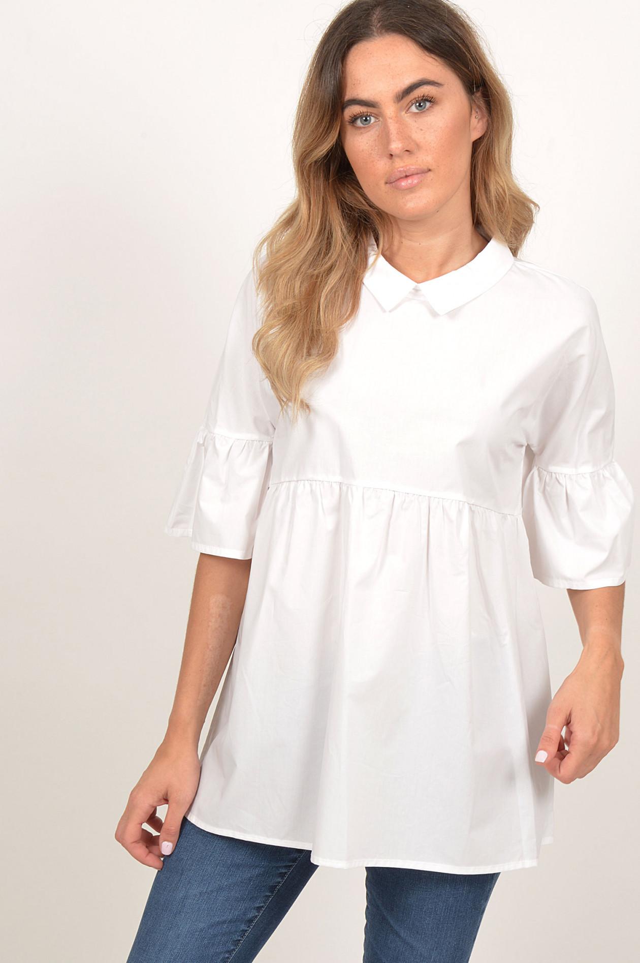 info for ee602 8cd63 Bluse aus Baumwolle in Weiß