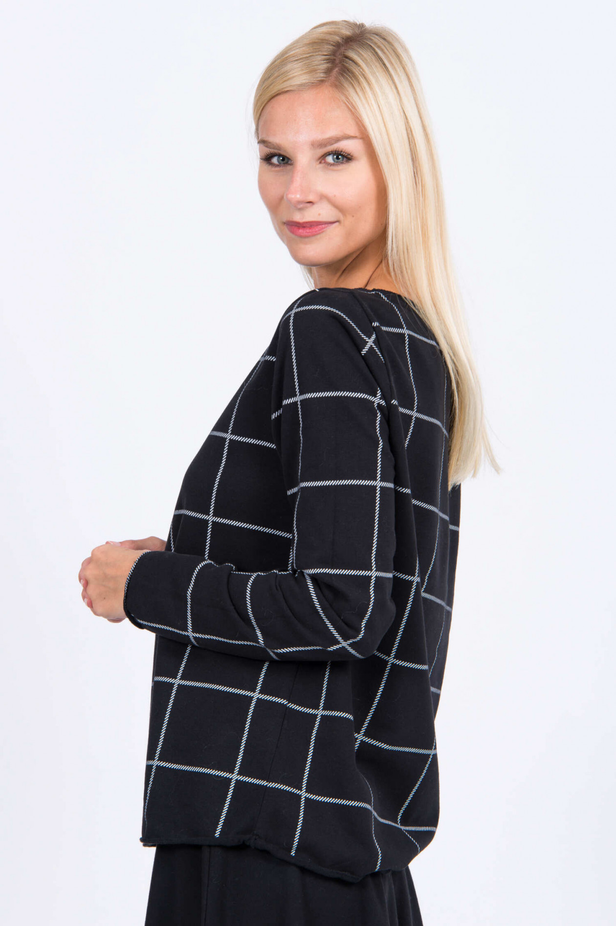 Juvia Sweatshirt mit Print in SchwarzWeiß | GRUENER.AT
