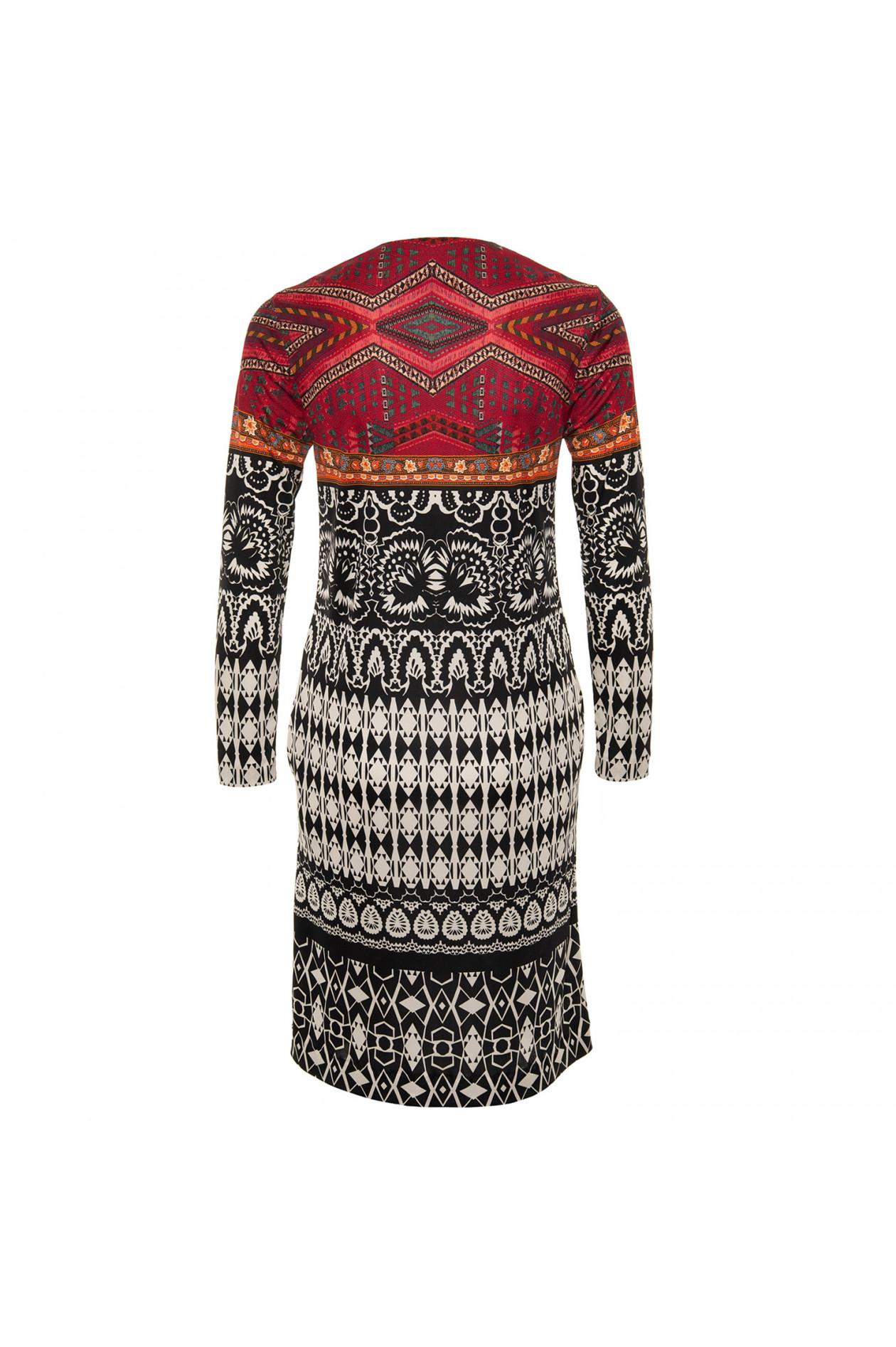 the latest 594c8 70dd2 Kleid in Schwarz/Weiß/Rot gemustert