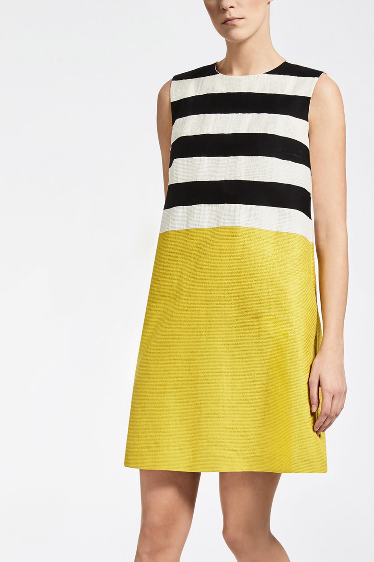 buy popular 5eda1 1f962 Kleid in Gelb/Schwarz/Weiß gestreift