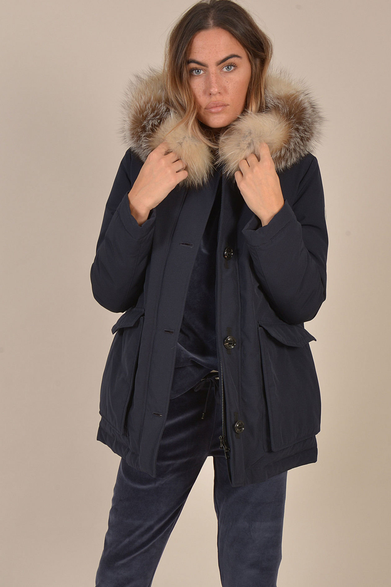 meet fdc6d 0bd28 Jacke COUVITE in Navy