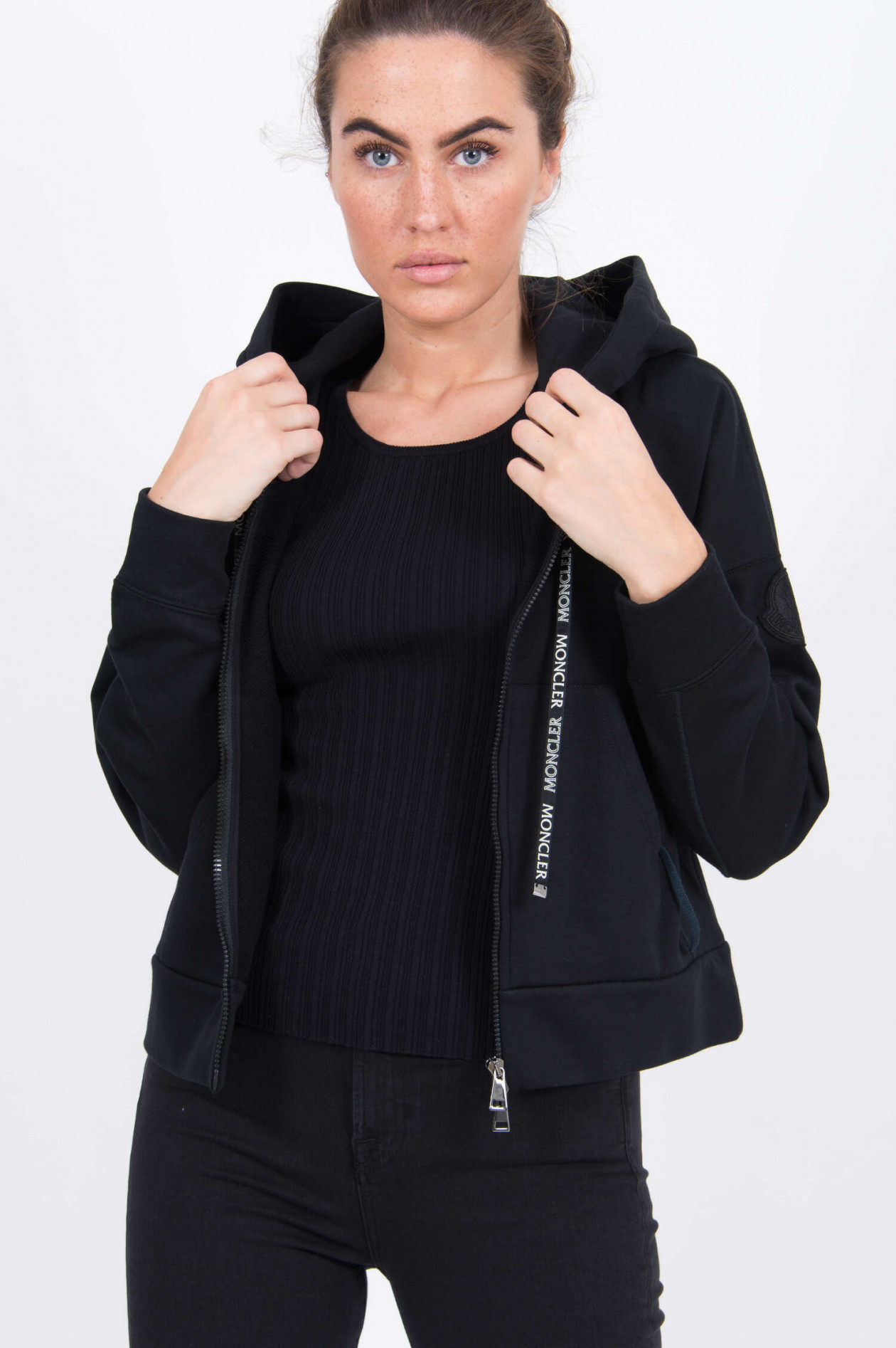 Moncler Sweatjacke in Schwarz | GRUENER.AT