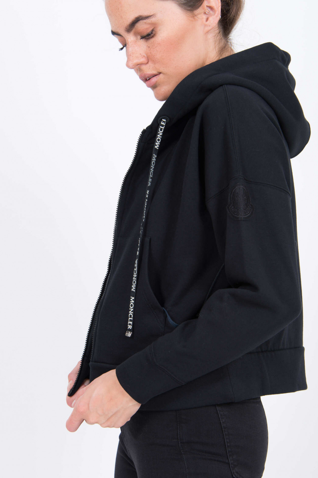 Sweatjacke in Schwarz
