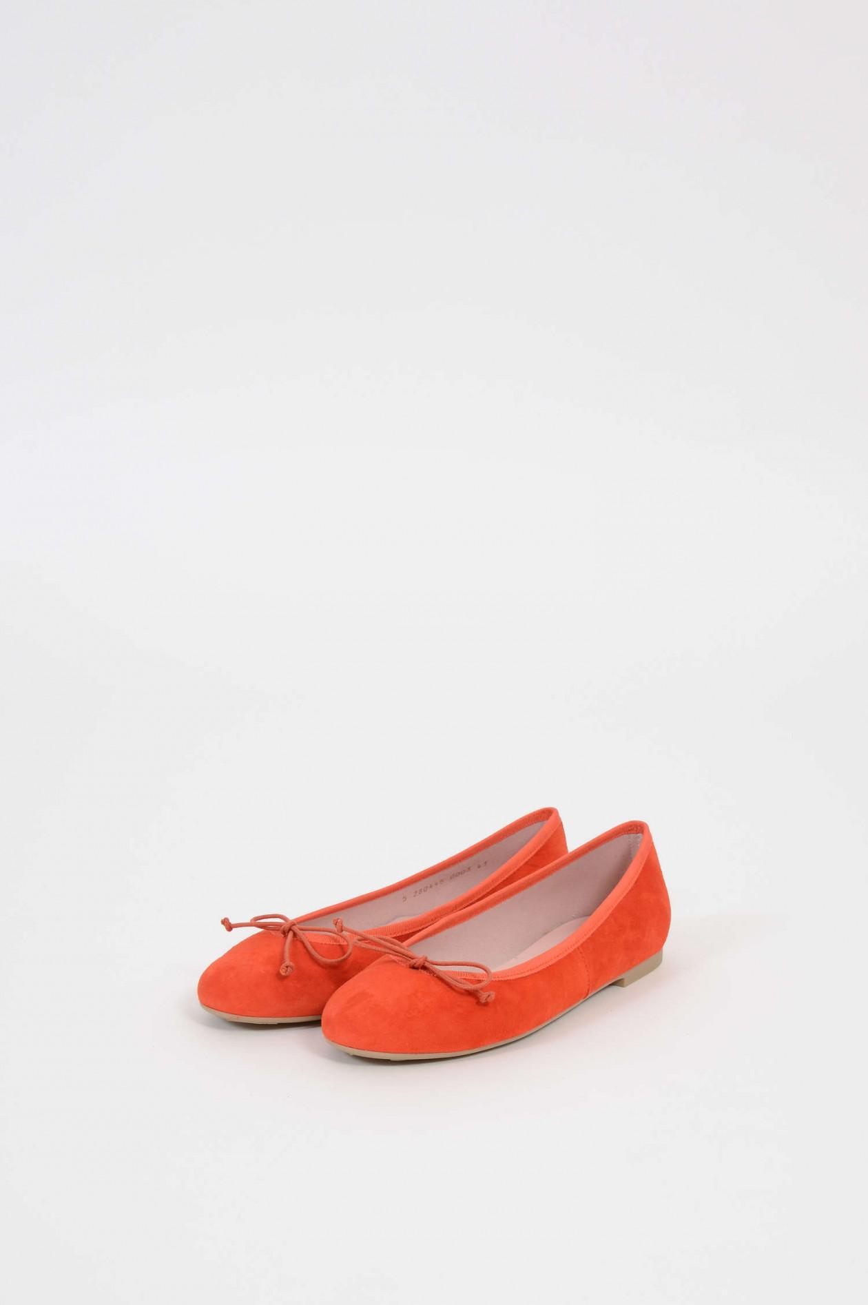 huge selection of fe468 d6a45 Ballerinas aus Veloursleder in Orange