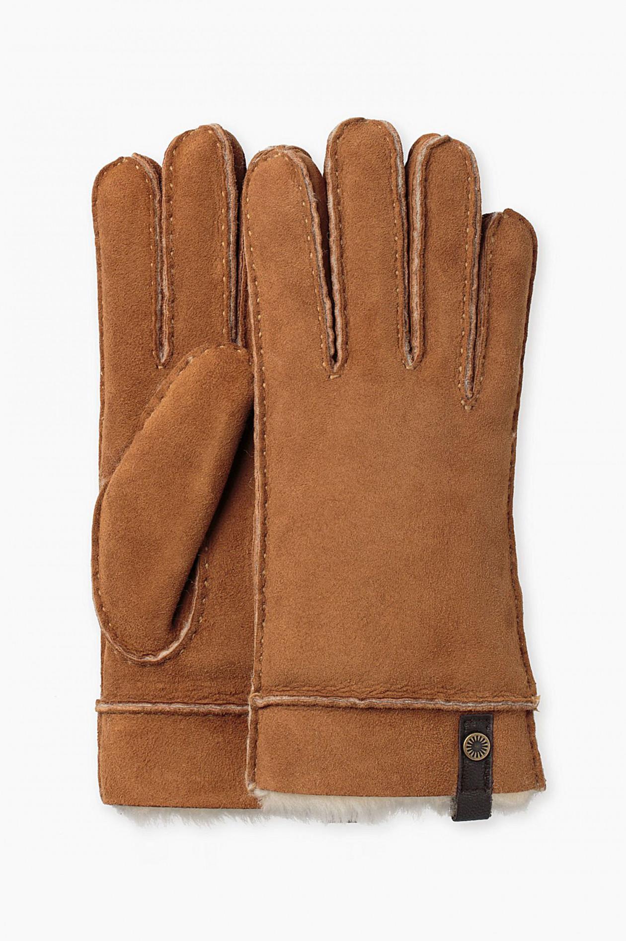 Handschuhe aus Lammfell in Chestnut