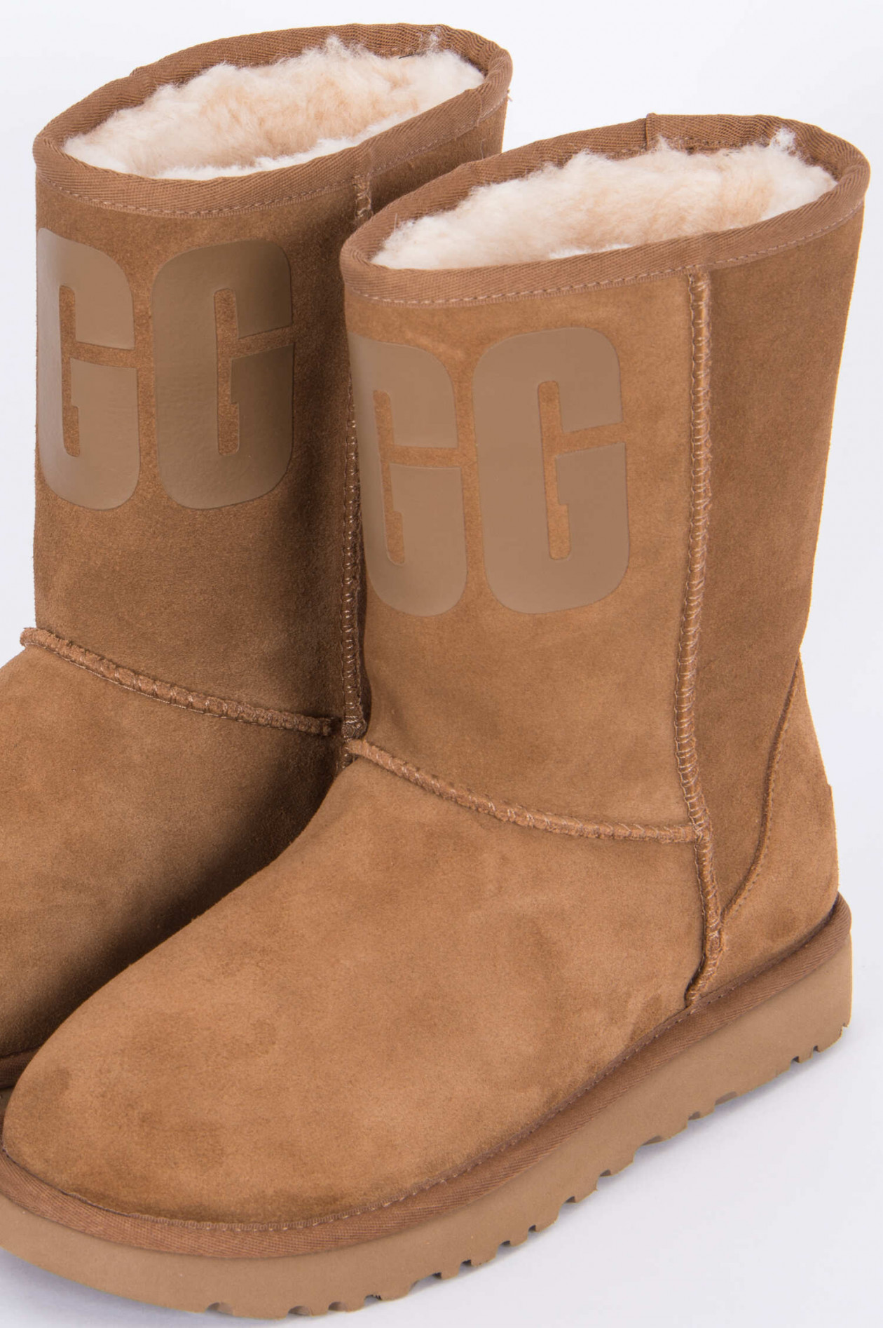 Boot CLASSIC SHORT RUBBER LOGO in Camel