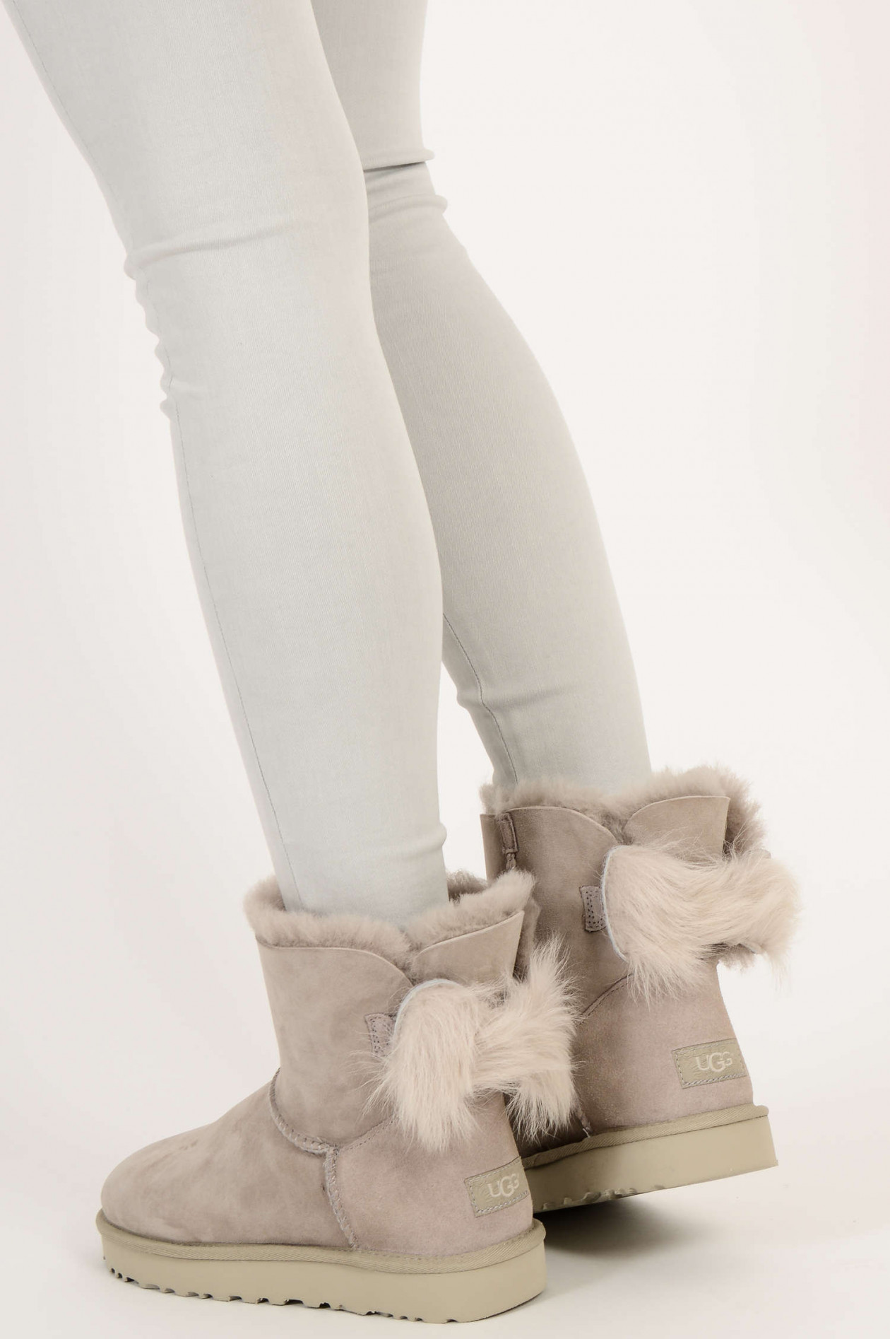 Hellgrau Bow Classic In Mini Willow Boots Fluff BroedxWC