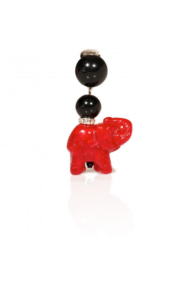 Peter Judd Ohrringe Elefant Rot