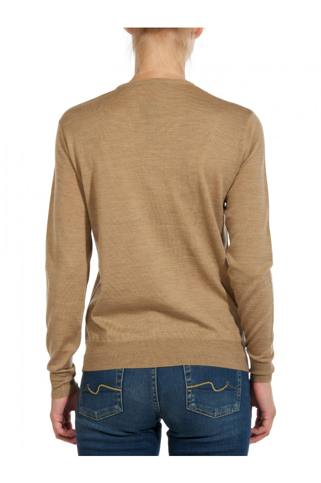 Strick-Pullover Camel meliert