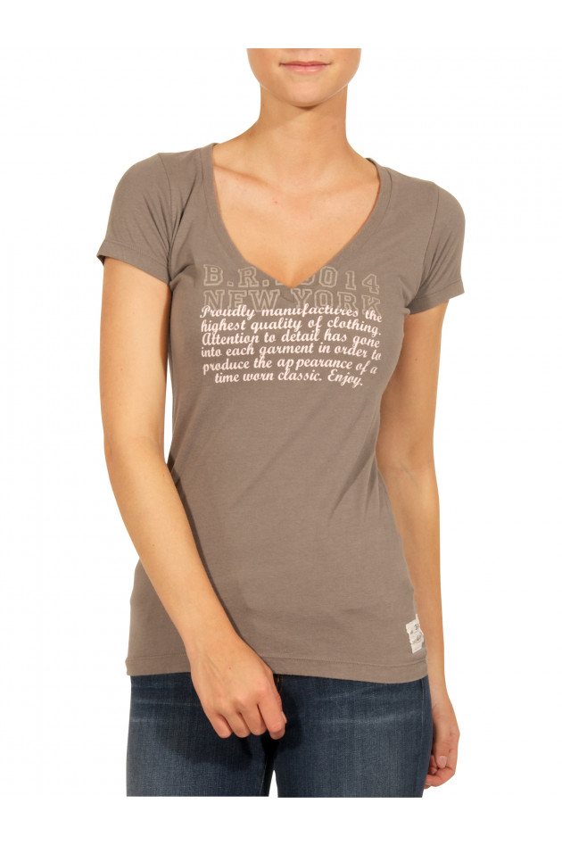 T-Shirt Grau mit Print