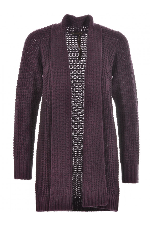 Repeat Woll-Cardigan Plum