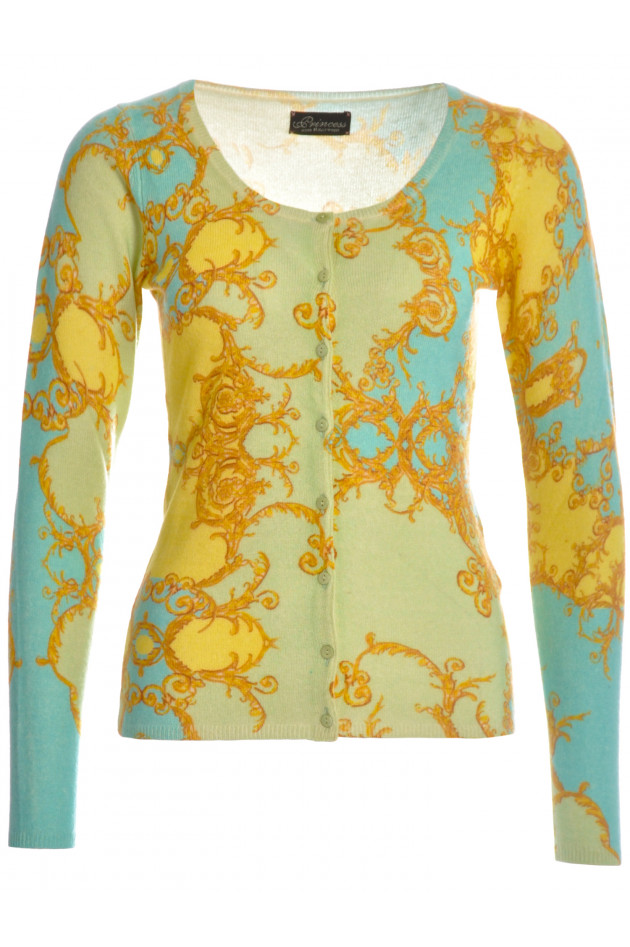 Princess Goes Hollywood Kaschmir-Strickjacke Gold/Blau
