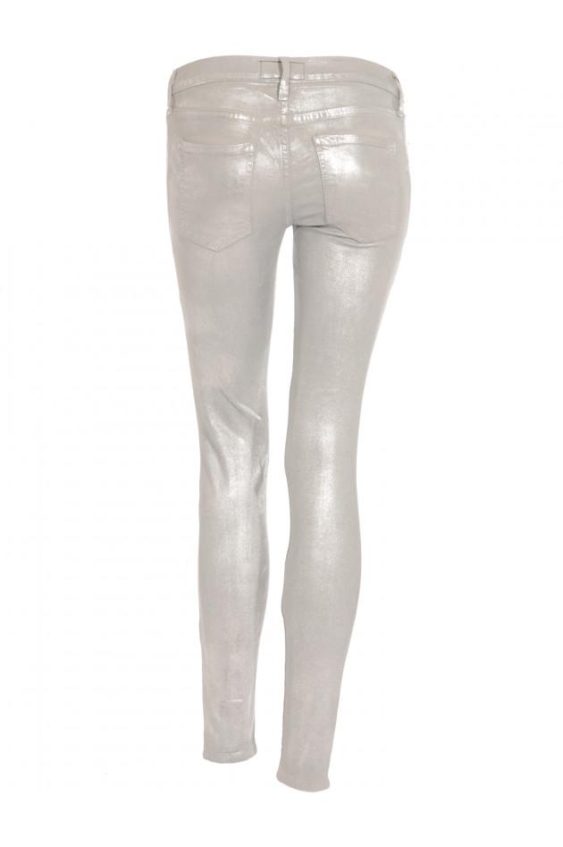 Skinny Jeans Silver Metallic