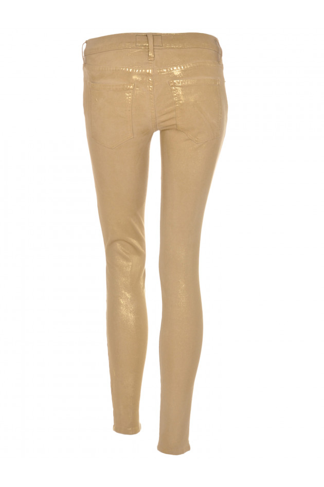 Current/Elliott The Ankle Skinny Jeans Gold Metallic