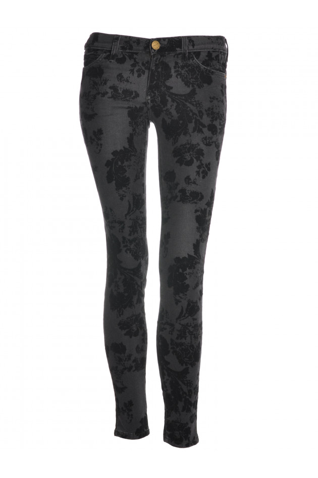 Current/Elliott Ankle Skinny Black Velvet