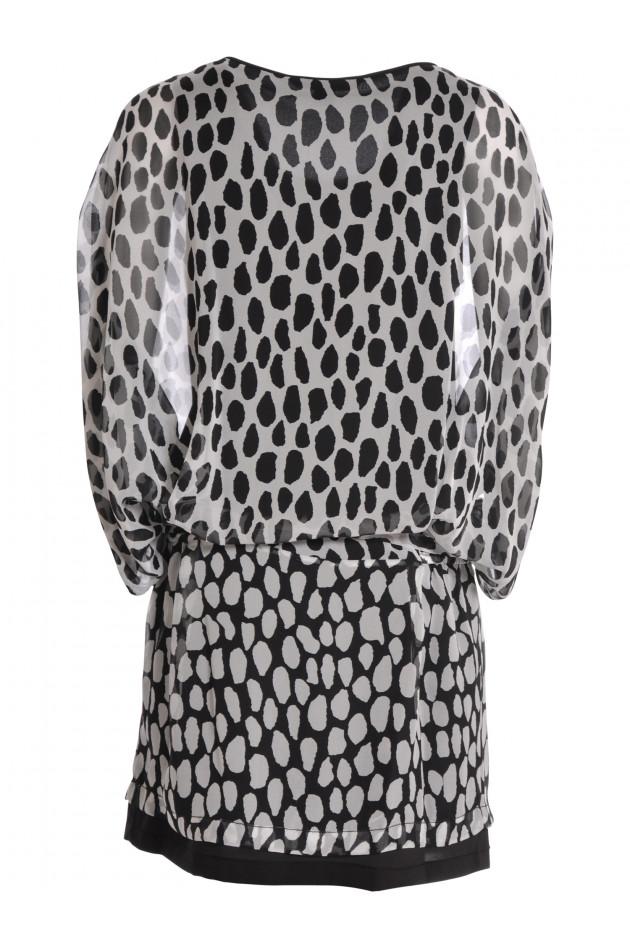 Kleid Schwarz/Weiß Gemustert