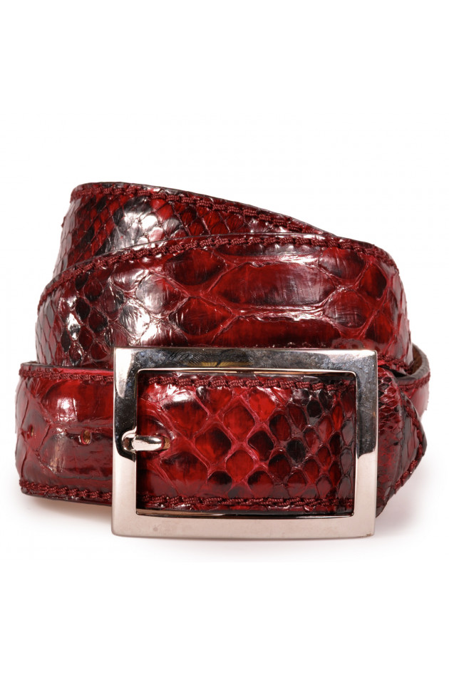 Pythonleder-Gürtel Rosso
