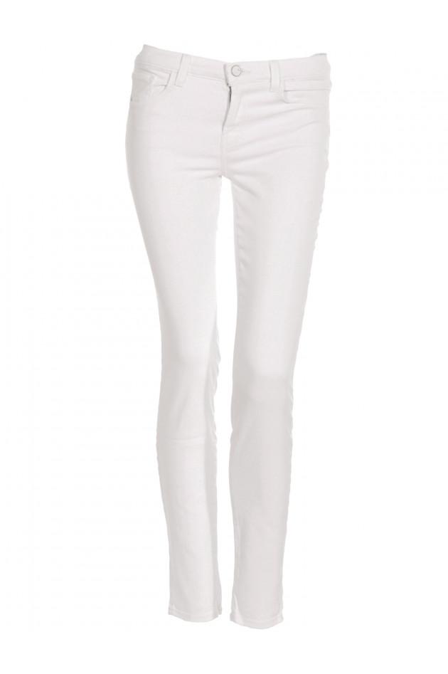 Skinny Leg Jeans Mid-Rise White