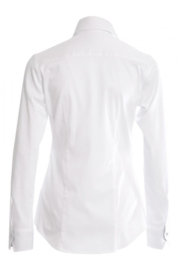 Capellini Bluse Weiß mit graue Details