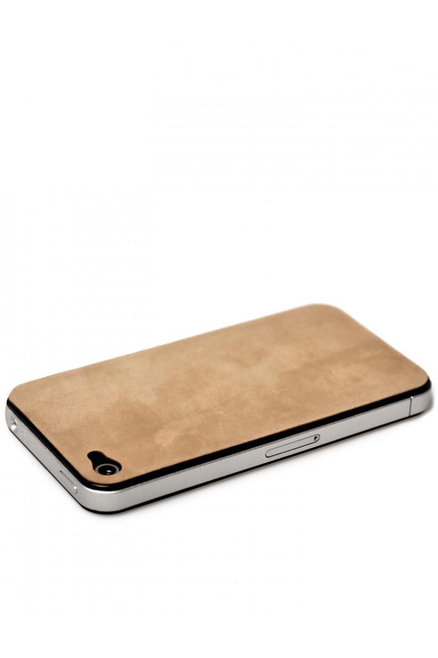 Hat iPhone Lederapplikation Weinrot Glatt