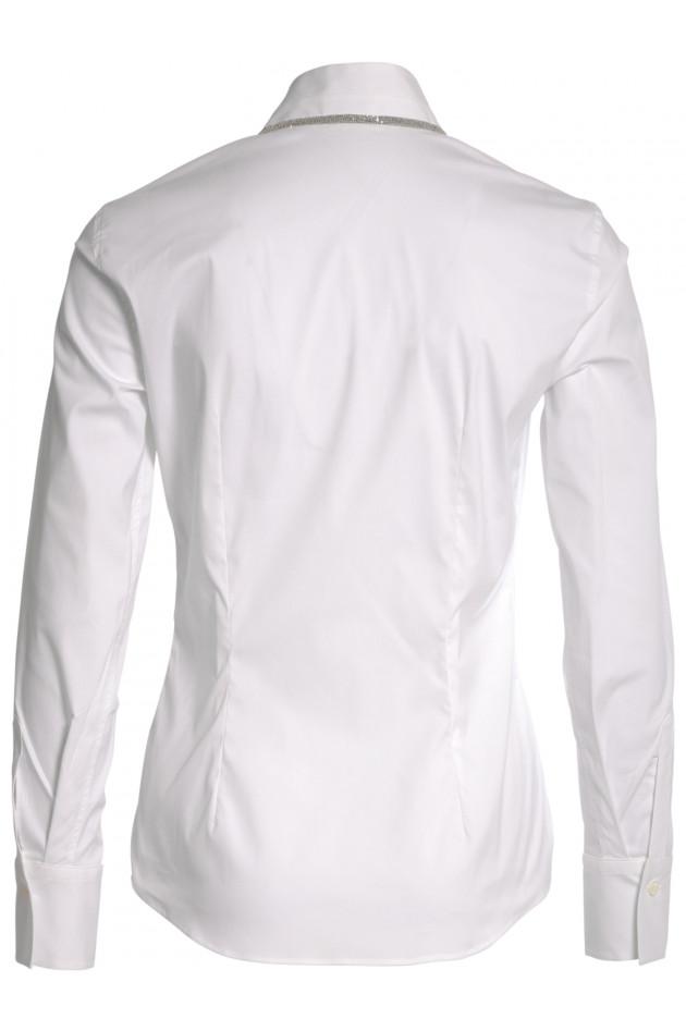 Bluse Weiß mit Messingdetails
