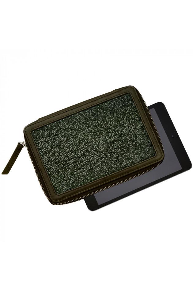 lili radu ipad mini lederh lle military green gruener at. Black Bedroom Furniture Sets. Home Design Ideas