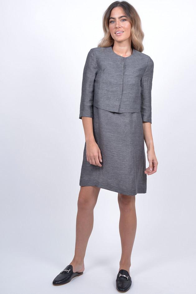d1a1fac42430 1868 Kleid mit Jacke in Grau   GRUENER.AT