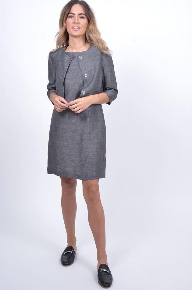 1868 Kleid mit Jacke in Grau