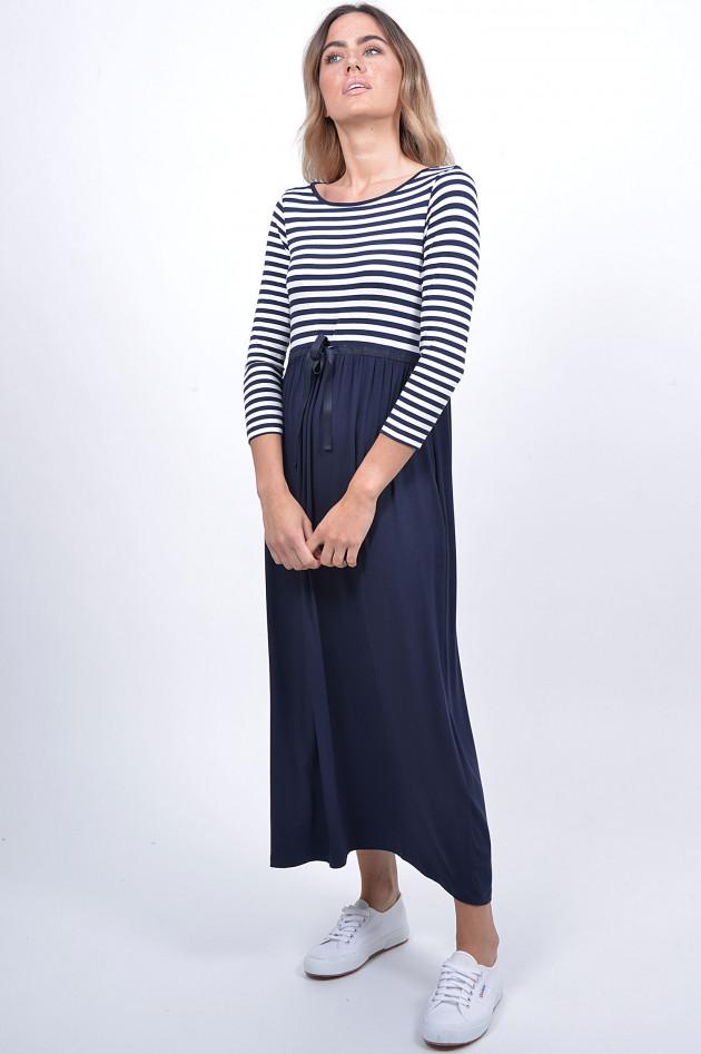 Grüner Online Shop: 1868 Jerseykleid in Blau/Weiß gestreift