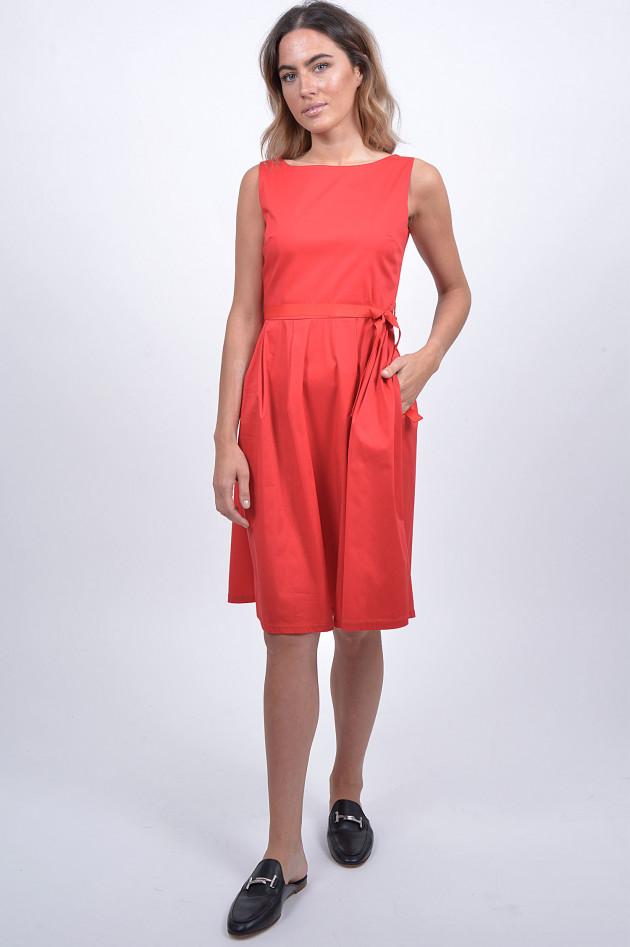 grüner online shop: 1868 kleid mit gürtel in rot