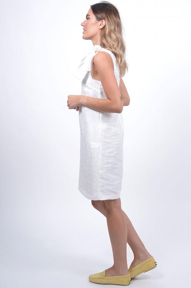 1868 Kleid mit Schleife in Weiß