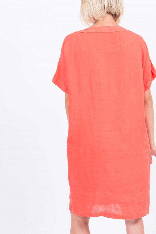 1868 Leinenkleid mit Seitentaschen in Orange