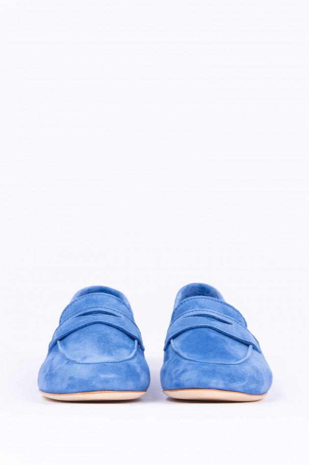 1868 Loafer aus Veloursleder in Blau