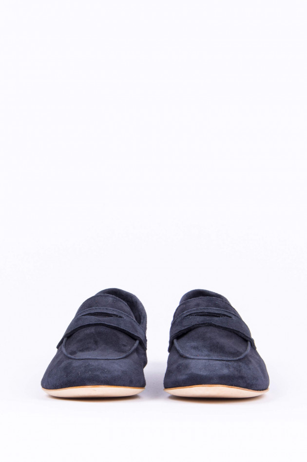 1868 Loafer aus Veloursleder in Navy
