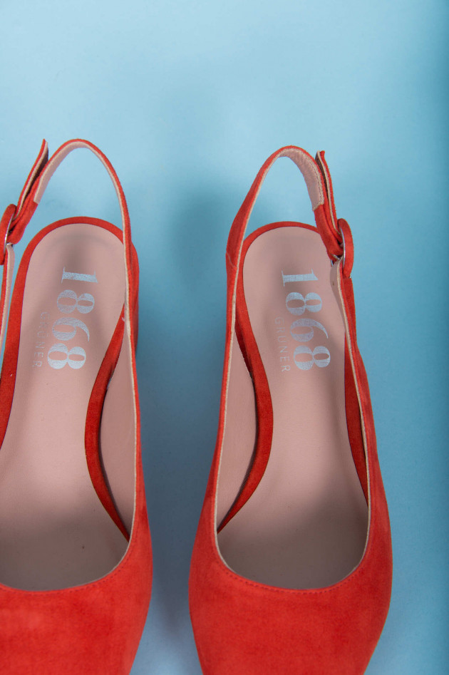1868 Slingpumps in Rot/Orange