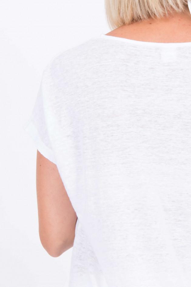 1868 Besticktes Leinenshirt in Weiß