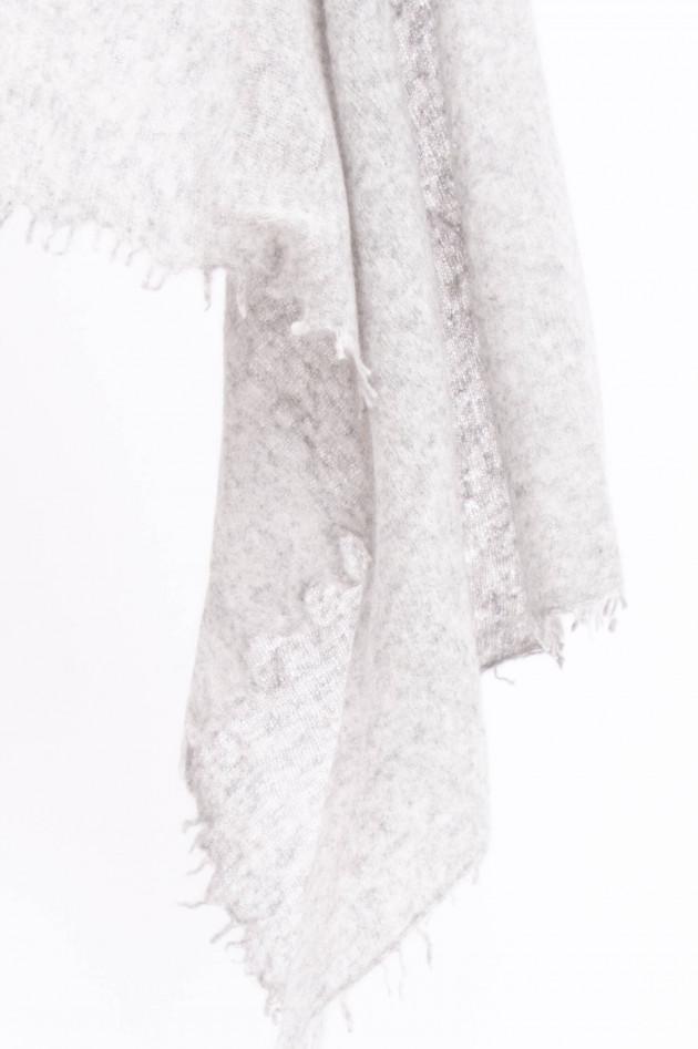 1868 Schal aus reinem Kaschmir in leichtem Grau