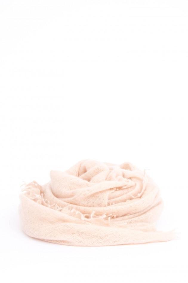 1868 Schal aus reinem Kaschmir in Vanille