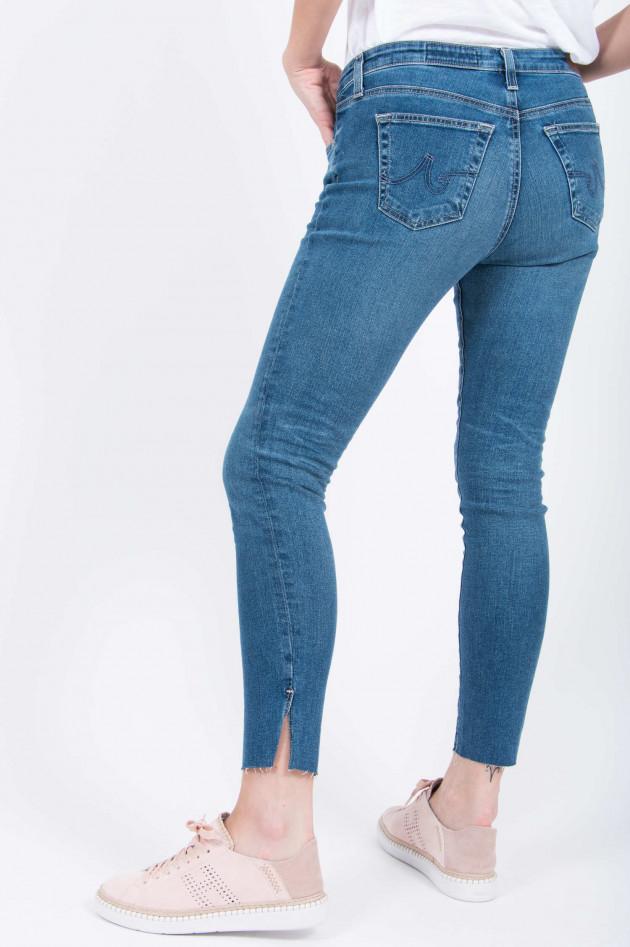 Adriano Goldschmied Jeans THE LEGGING ANKLE mit Schlitz in Mittelblau