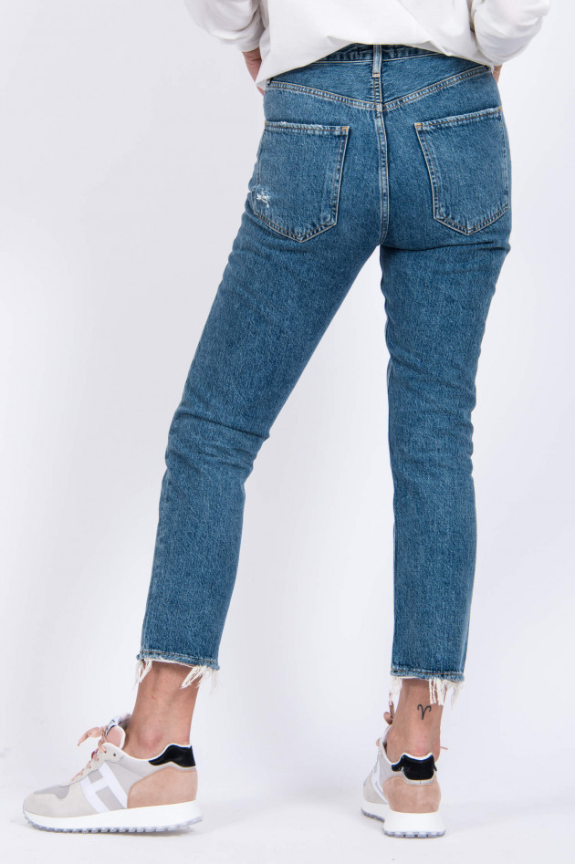 Agolde Mom Jeans RILEY in Mittelblau