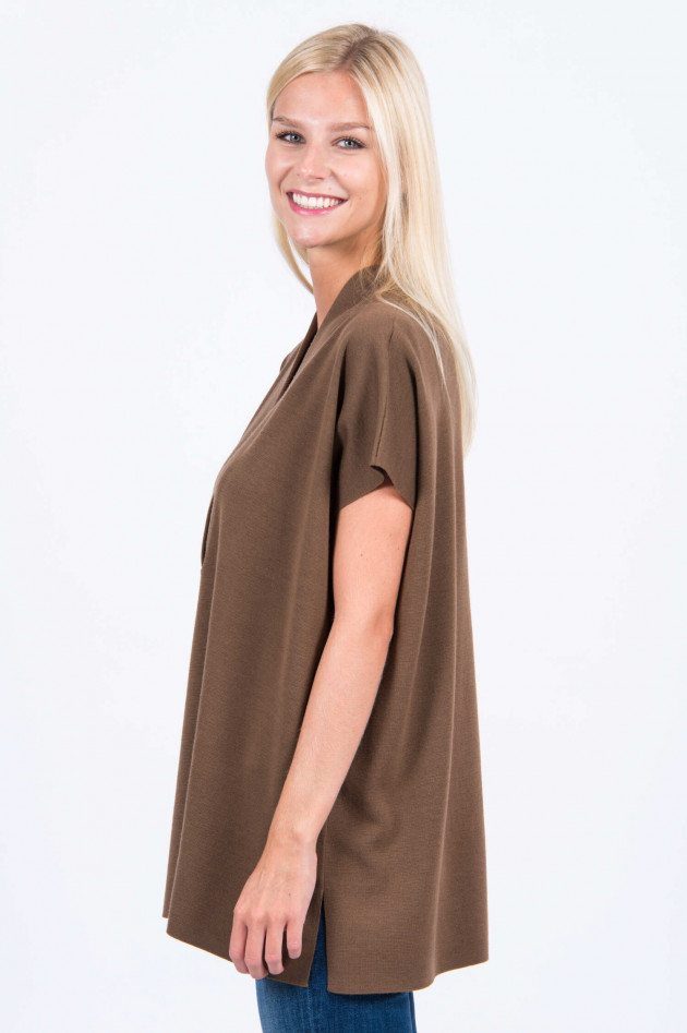 Allude Kurzarm Pullover in Zimt