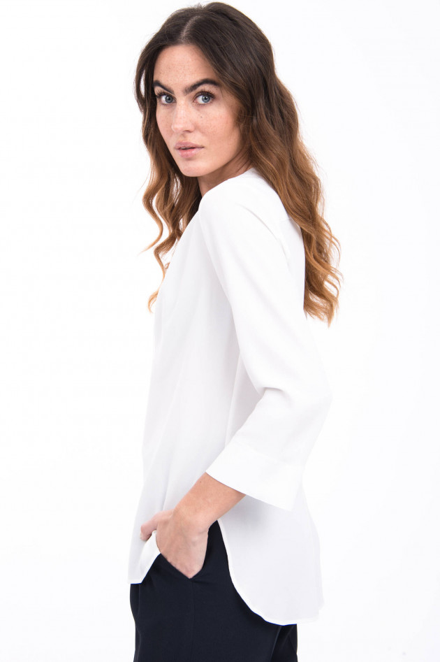 Antonelli Firenze Bluse ALLEGRA aus Seiden-Mix in Weiß