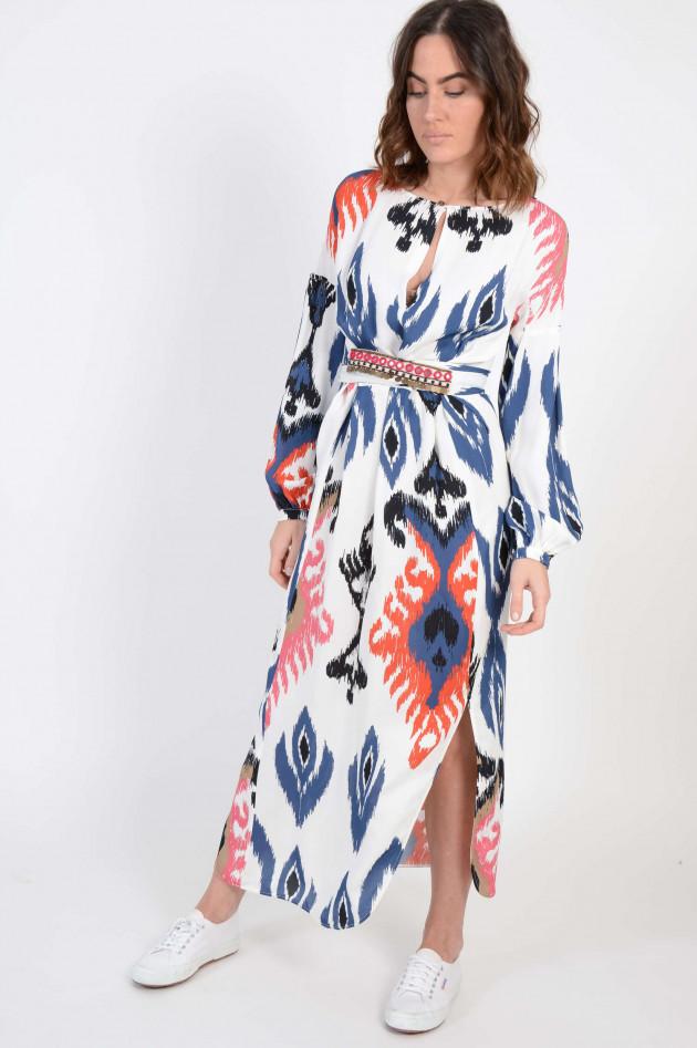 Bazar Deluxe Kleid mit Marrakesch-Gürtel in Weiß/Blau ...