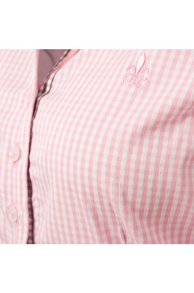 gr ner online shop fior da liso bluse in rosa wei kariert. Black Bedroom Furniture Sets. Home Design Ideas