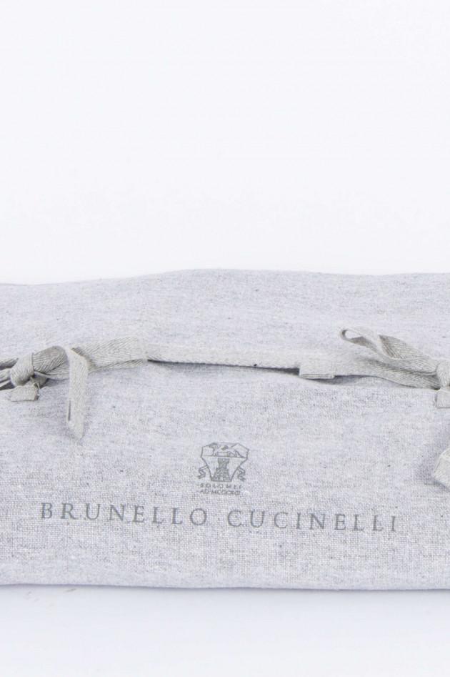 Brunello Cucinelli Schal in Braun/Kupfer