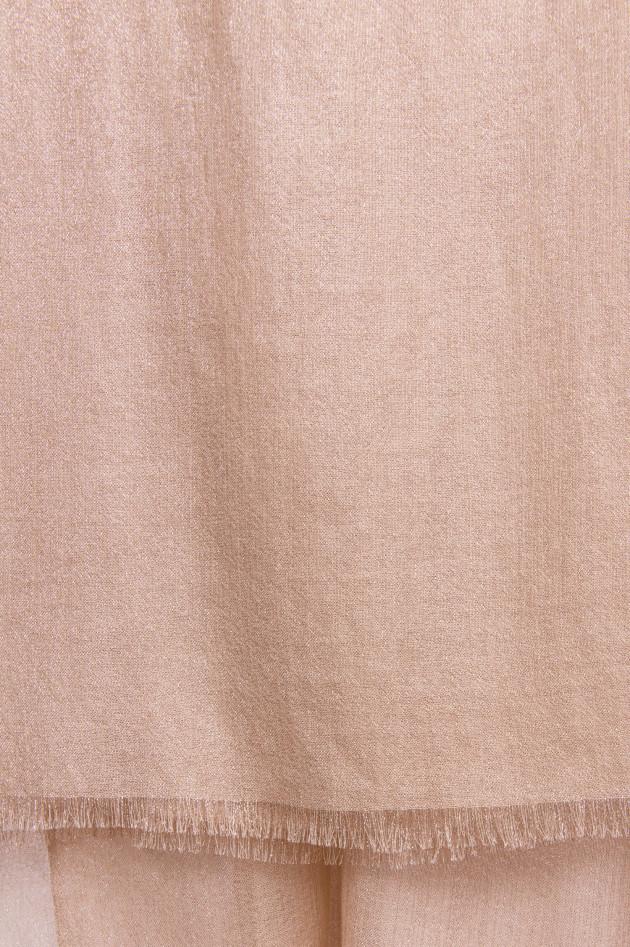 Brunello Cucinelli Kaschmir-Mix Schal in Rose/Rosegold